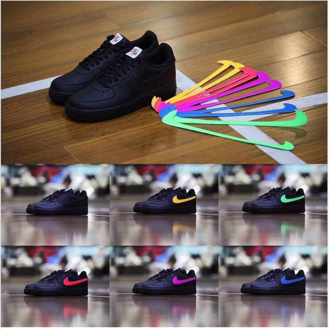 e1cca5cf336ea New interchangeable Nike Swoosh Logos for Air Force Ones! 💜