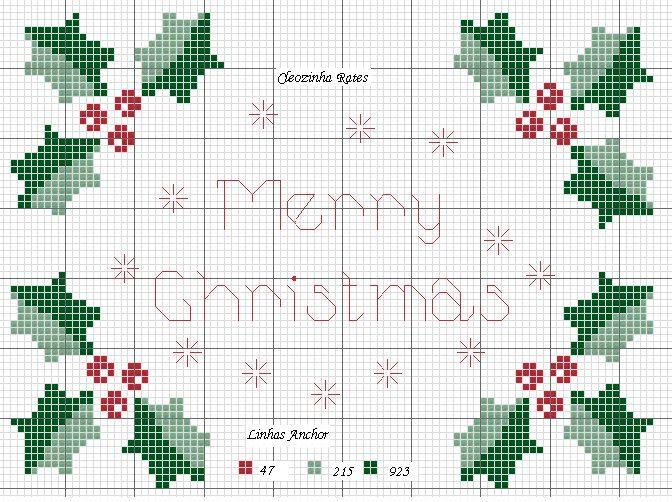 bordado natal ponto cruz - Pesquisa Google | guardas navidad | Cross ...