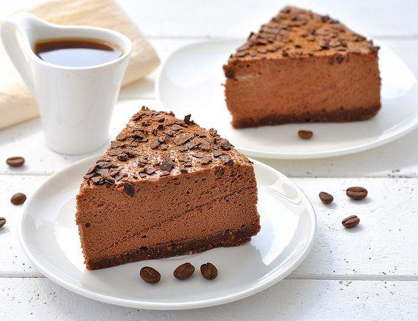 Bavarois au chocolat et café