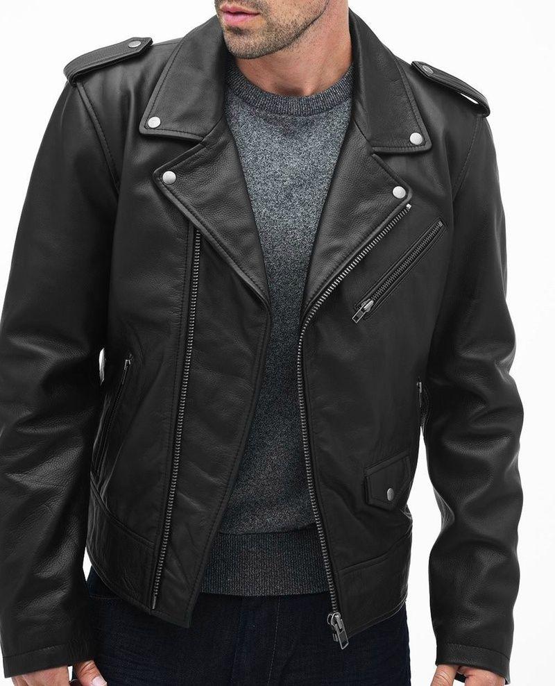 b69588ed1 Rich Class Mens Biker Jacket | Mens Leather Biker Jacket | Custom ...