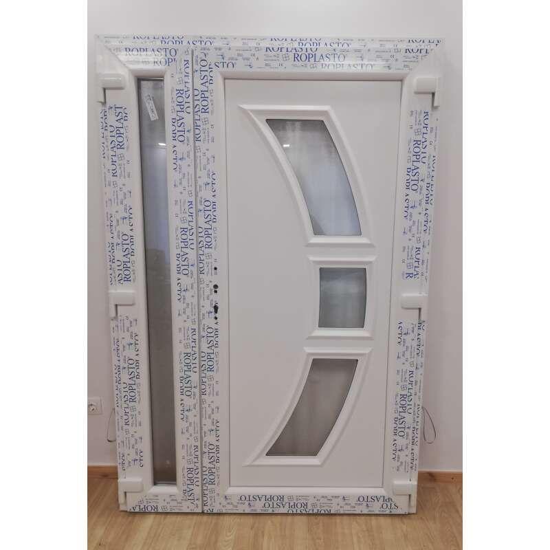 Double-leaf plastic Entrance door with side light 138x208cm …