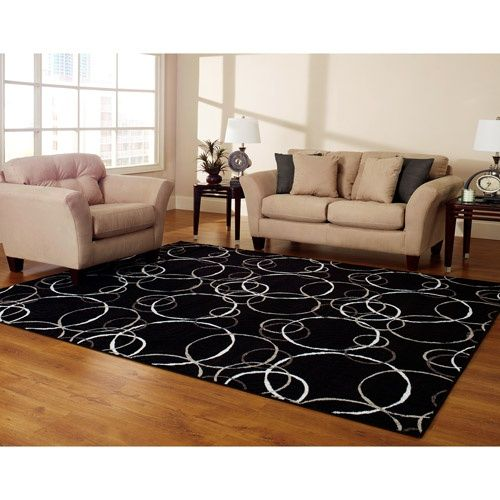 Hometrends Black Circles Rug Home Trends Rugs In Living Room