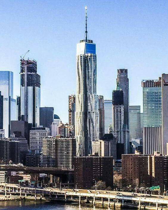One World Trade Center overlapped with 8 Spruce Street.