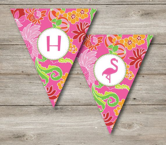 Hey, I found this really awesome Etsy listing at https://www.etsy.com/listing/190635233/editable-flamingo-pennant-personalized