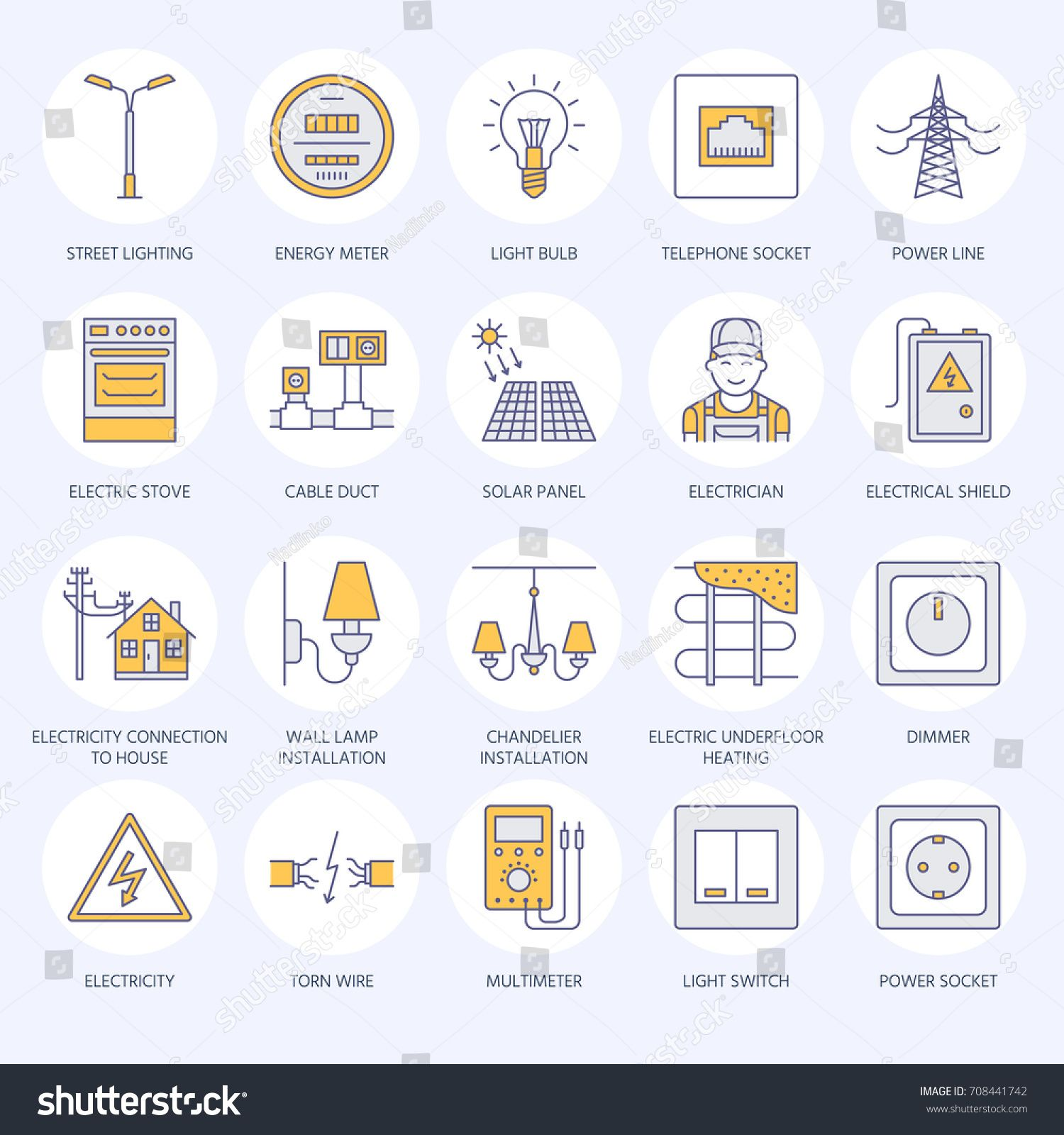 Electricity Engineering Vector Flat Line Icons Electrical Equipment In 2020 Basic Electrical Engineering Electrical Engineering Projects Electrical Engineering Quotes