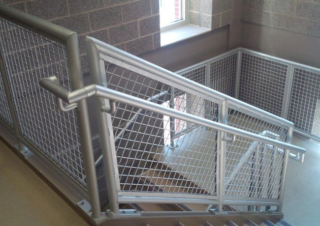 Wire Mesh Railing - Railings + Fencing - Wire Mesh + Perforated ...