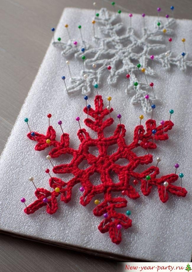 Вязанные снежинки крючком - схемы, фото и хитрости ...
