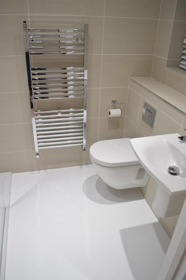 En Suite Bathroom White Resin Floor Bathroom Flooring Shower Room