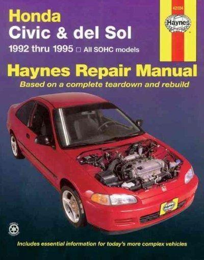honda civic automotive repair manual models covered all honda rh pinterest com 2004 Honda Civic Torque Specifications Honda Civic Manual Water PU