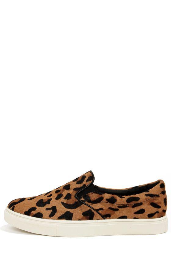Fur flats, Leopard print