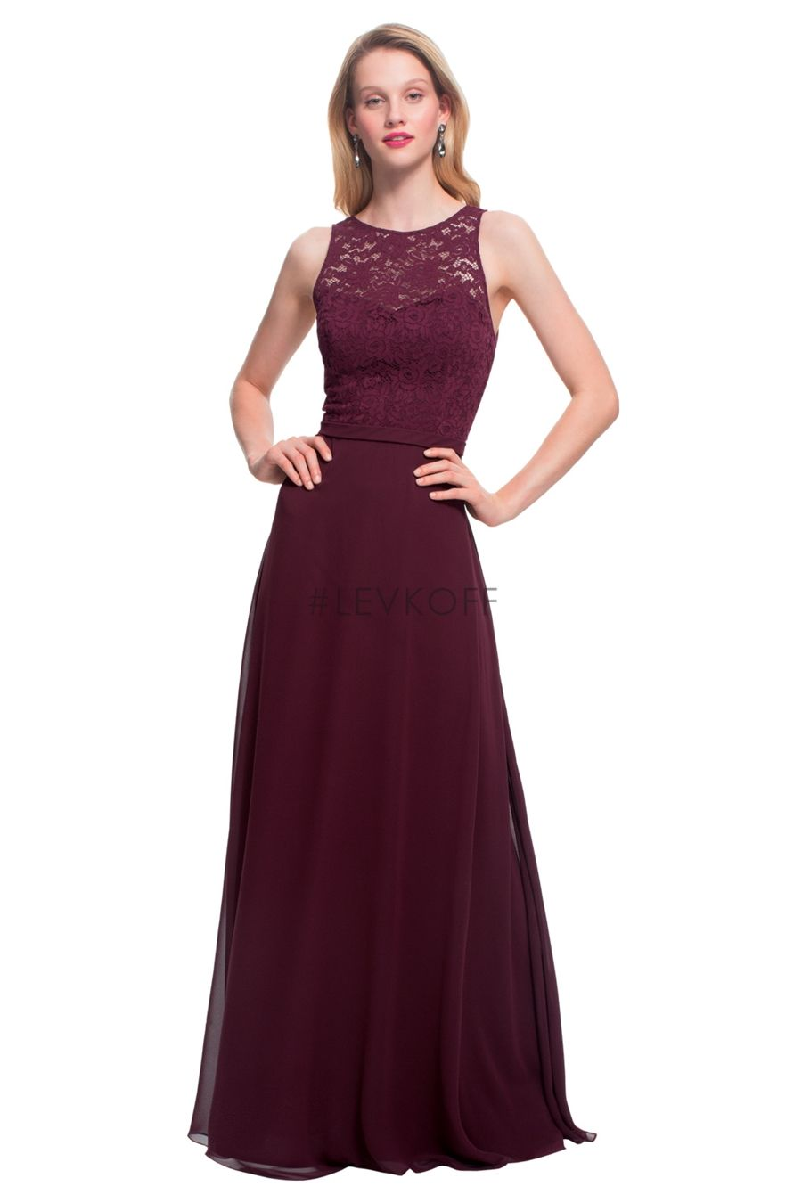 5ee6dc61b4  LEVKOFF by Bill Levkoff Bridesmaid Dress Style 7027