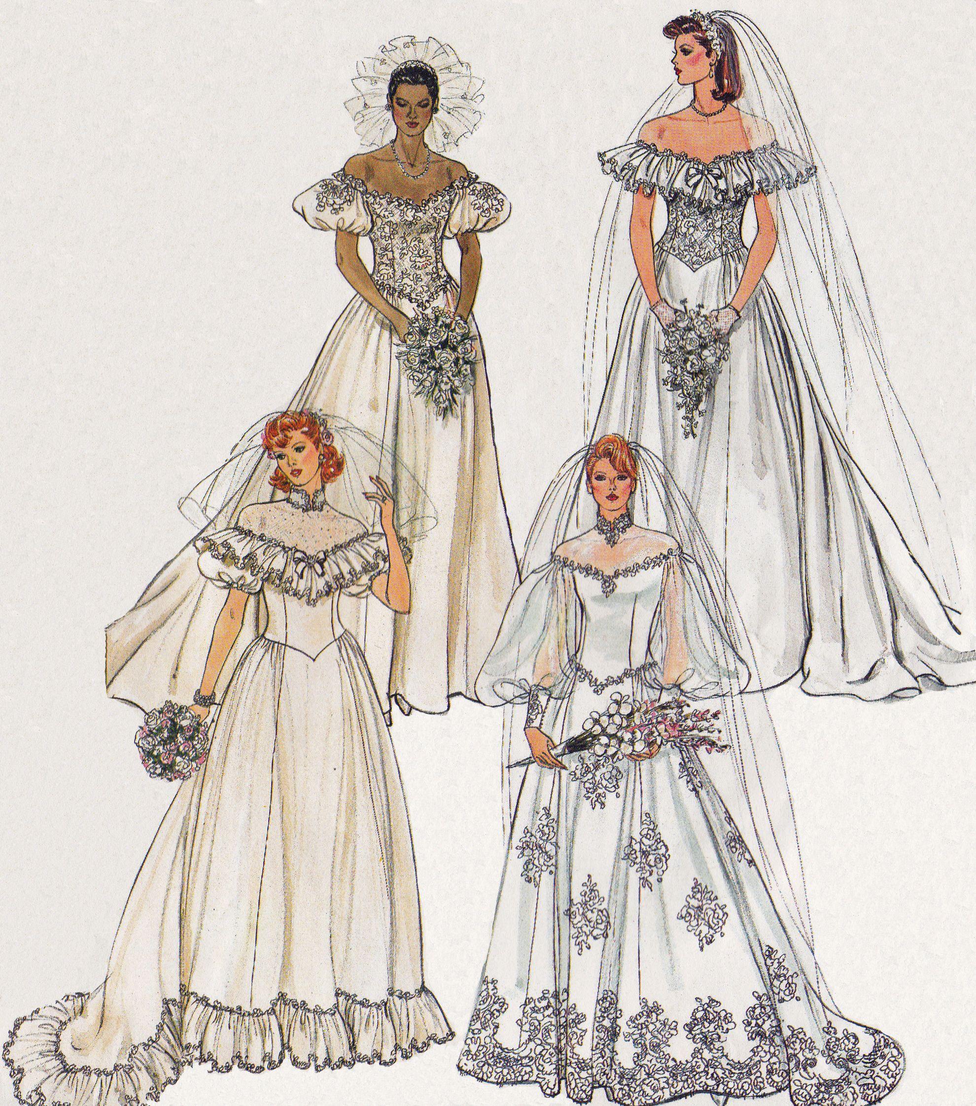 Vogue S Basic Bridal Design From 1985 Pattern 1985 Vintage Wedding Dress Pattern Wedding Gown Patterns Wedding Dress Patterns [ 2244 x 1980 Pixel ]
