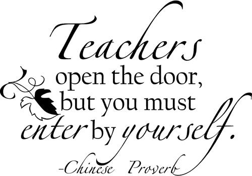 Teachers Open The Door Wall Decals With Images Teacher