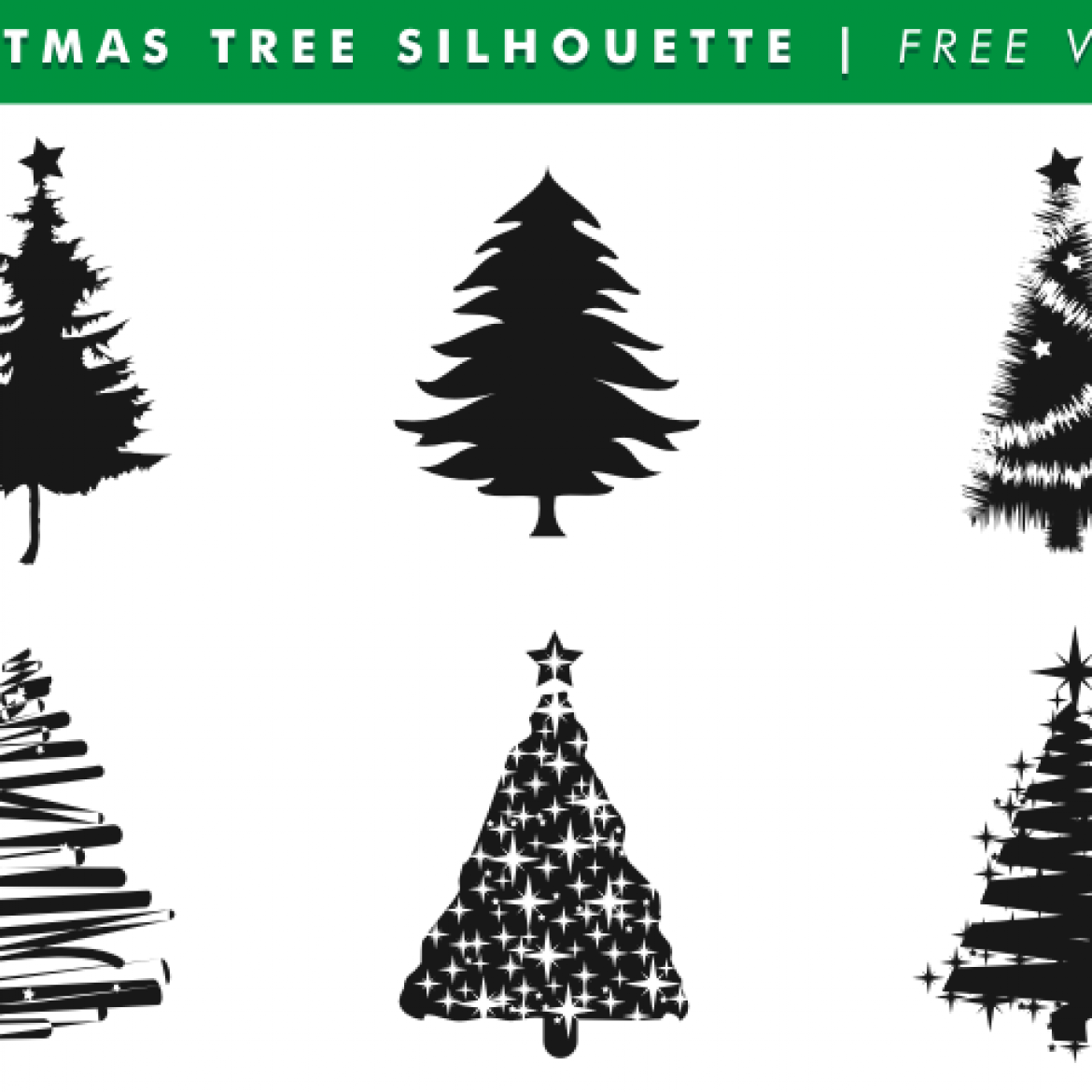 Free vector Christmas Tree Silhouettes Free Vector 11469