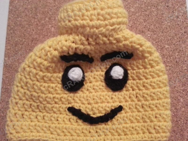 Lego Man Character Hat Crochet Pattern (11) | Baby Baby | Pinterest