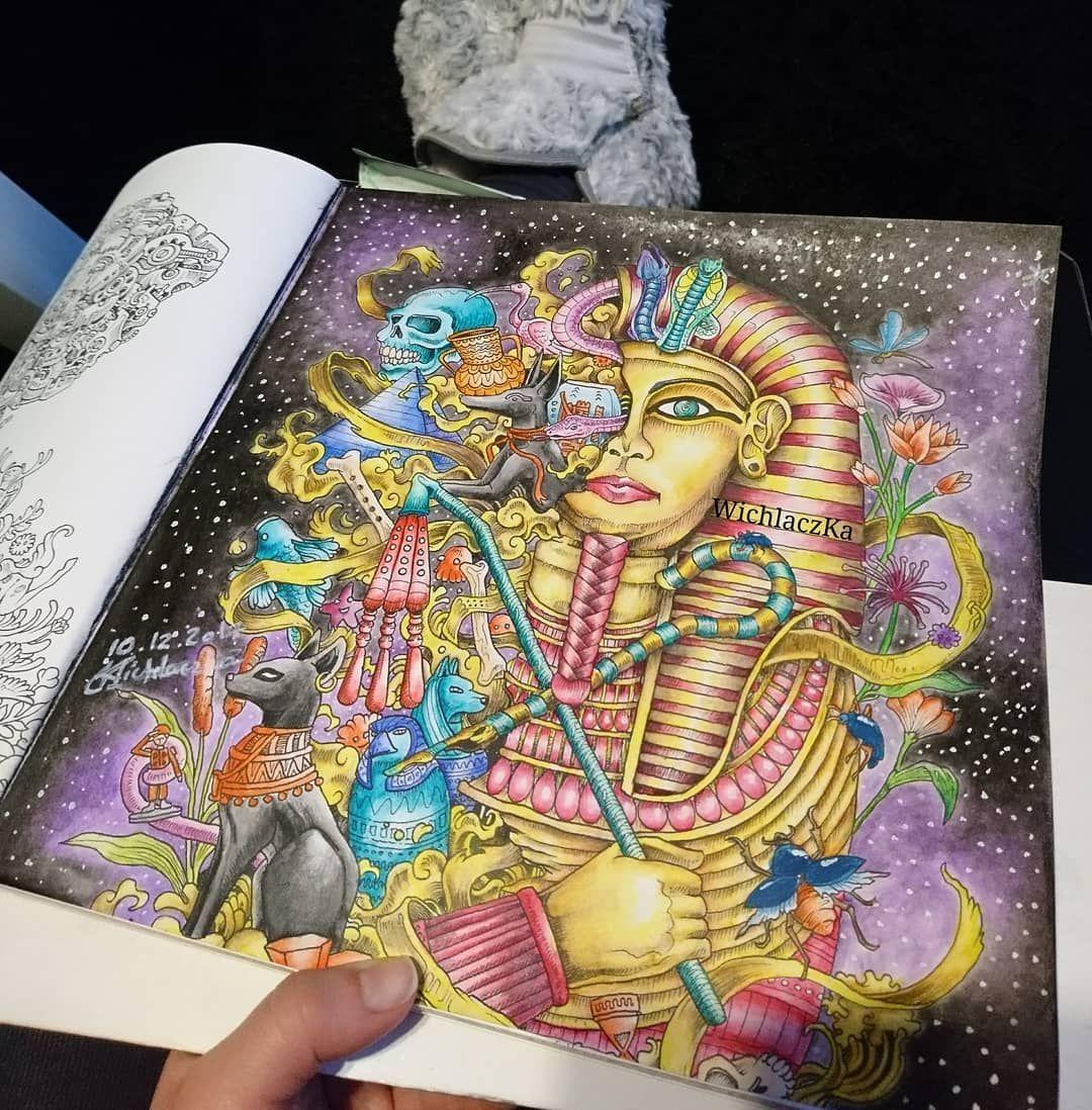 Magiczny Nr 1 Meza Imagimorphia Kerbyrosanes Faraon Magia Mondeluz Pastel Wena Pasja Relax Coloring Kredki Kolorowankidladoroslych Koloro Kleuren