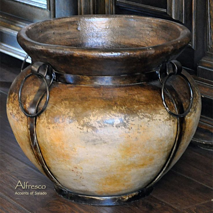 Tuscan Planters   Found on accentsofsalado.net   Home decor & more ...