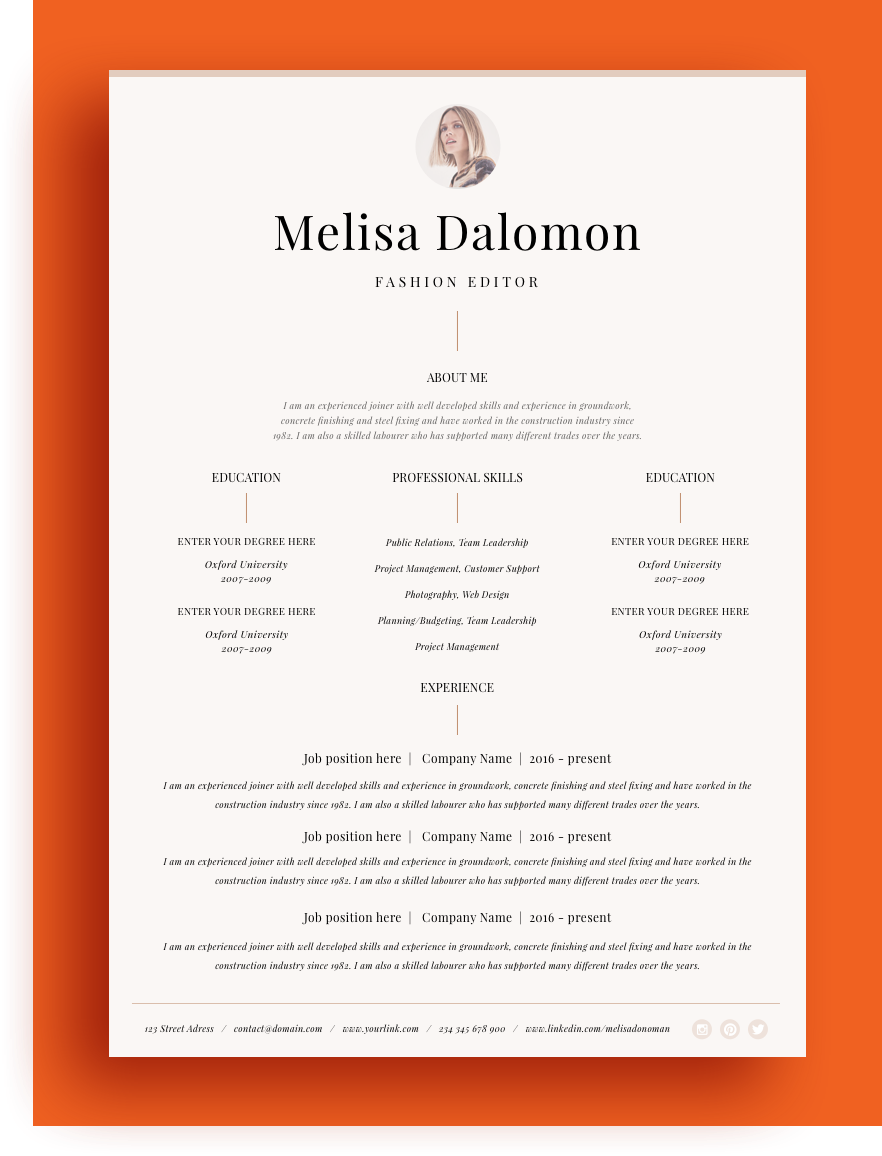 Resume On Microsoft Word Creative And Professional Resume Template In Microsoft Word Cv .