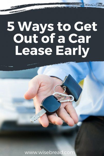 5 Ways To Get Out Of A Car Lease Early Personal Finance Saving