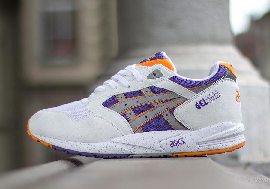 Asics Gel Saga - White - Orange - Purple - SneakerNews.com
