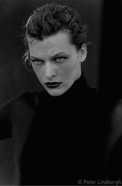 Available for sale from Gagosian Gallery, Peter Lindbergh, Milla Jovovich, New York, USA, 2000 (2014), Gelatin silver print illford multigrade, 23 5/8 × 19 11/16 in
