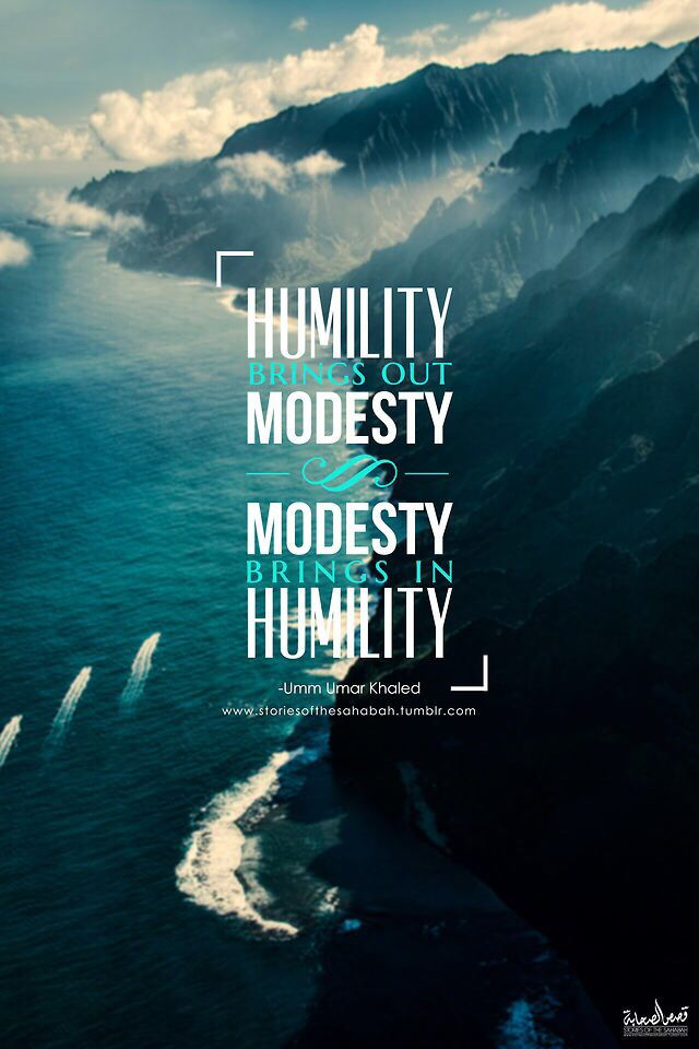 Humility and modesty