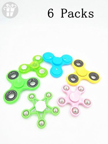 EEkiimy 6 Packs Assorted Fid Spinner in Bulk Plastic Fid