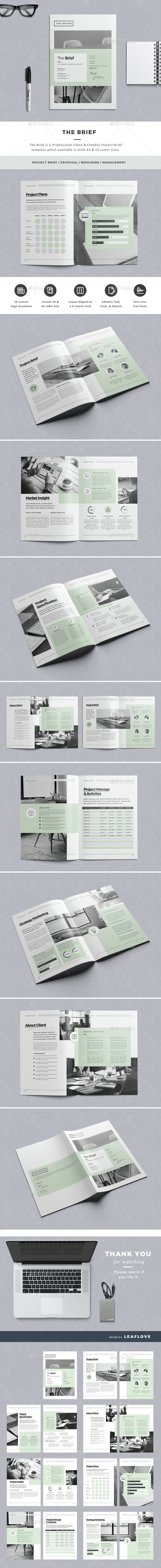 The Brief  Indesign Template Resume Template   Proposal