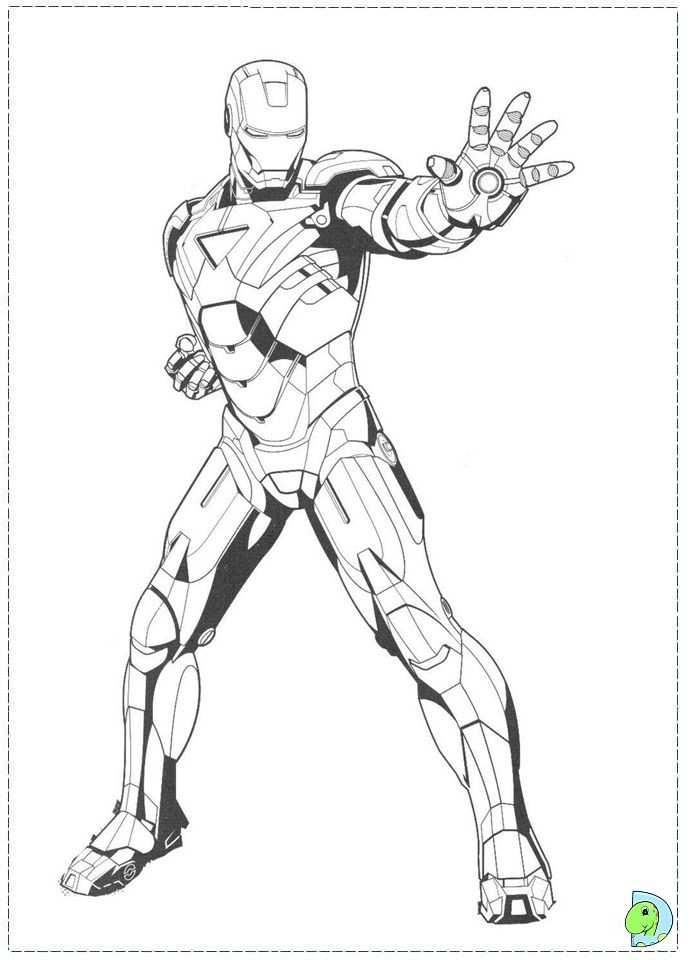Coloring page | iron man | Pinterest