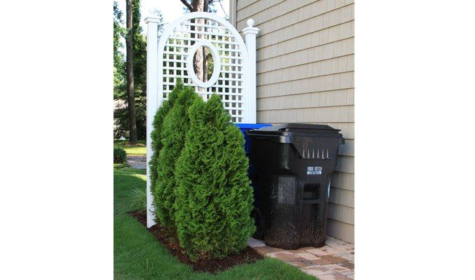 how to hide trash cans | Trellis, Hide Eyesores in Landscape ...