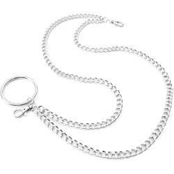 Photo of Silberfarbene Geldbörsenkette Mit Ring
