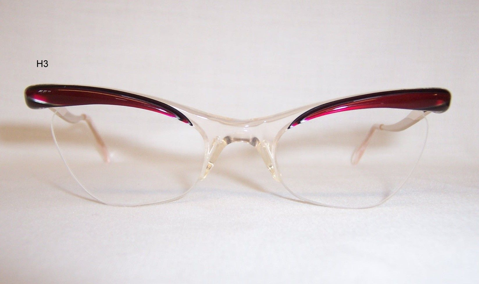 87e16ec2f365 Highly desirable RED 1950 60 s brow line perspex cat eye Spectacles - by  Birch - Vintage Glasses - Dead Men s Spex