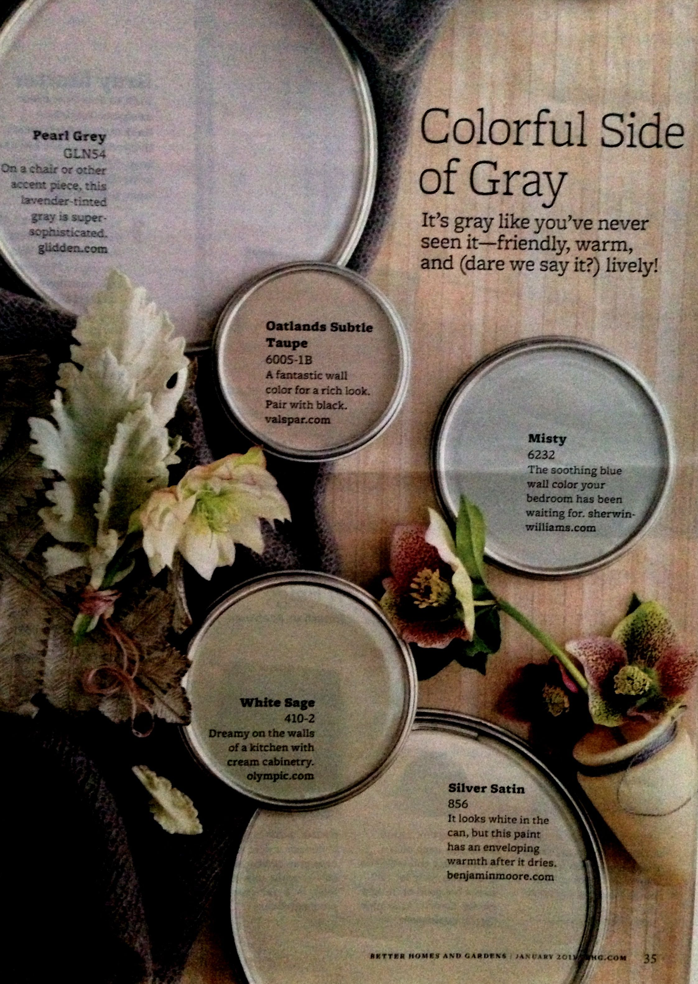 Better Homes And Gardens Colorful Side Of Gray Paint Colors For
