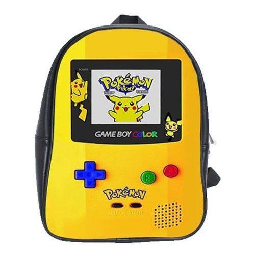 04bdb41b880a Brand New Pokemon Game Boy School Bag Backpack XL Size