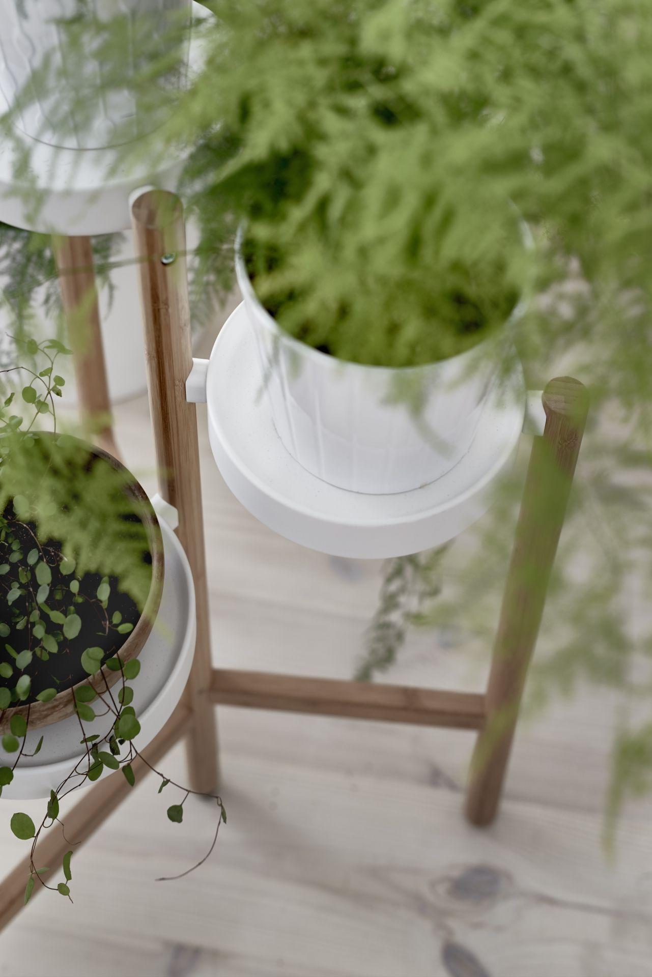 satsumas plantenstandaard bamboe wit plantenstandaard bamboe