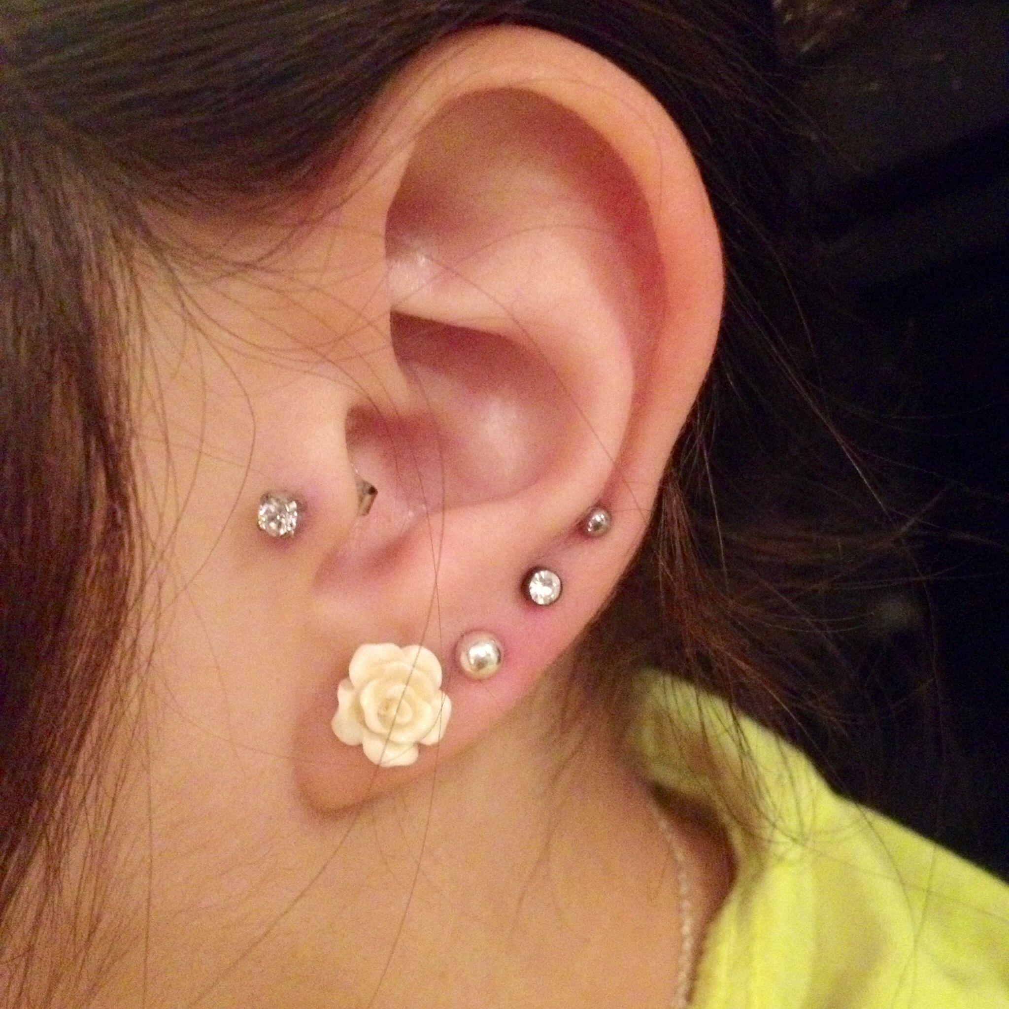 Tragus piercing names  Got my triages pierced   uc Piercings ue  Pinterest  Piercing