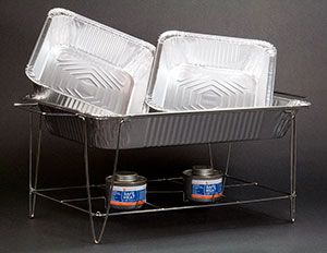 Choice Full Size Disposable Wire Chafer Stand Kit With Wick Fuel In 2020 Keep Food Warm Catering Supplies Catering Food Displays