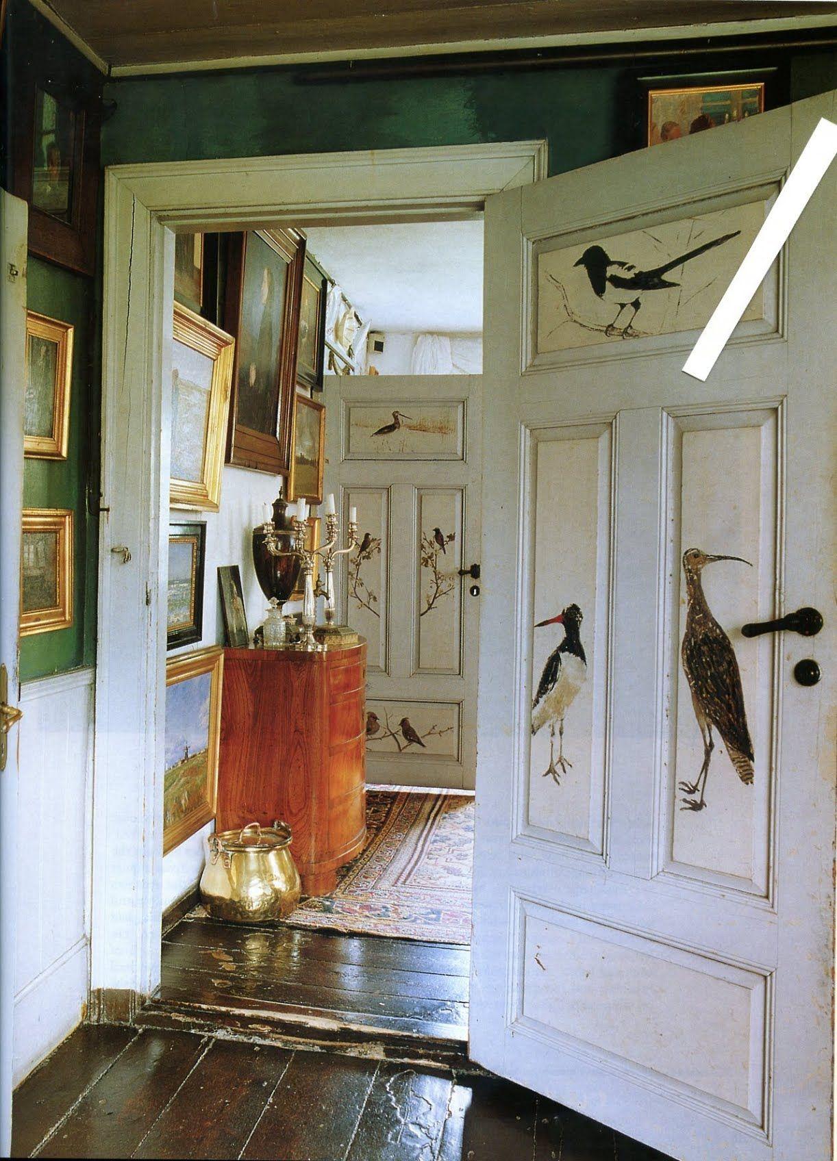 Painted door robert hadley u the world of interiors november