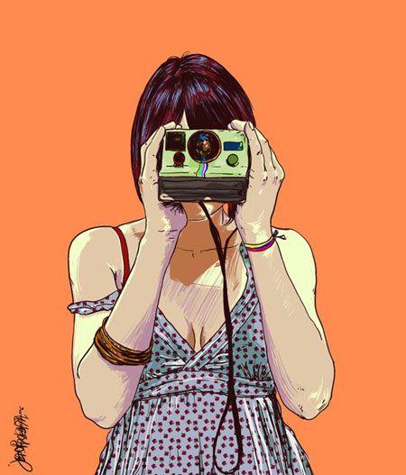 Paparazzi By Jean Zapata Kresleni Fotografove Illustration