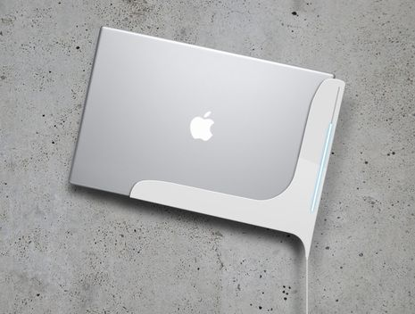 It S A Wall Mounted Macbook Pro Docking Station That Even Has Macbook Pro Docking Station Docking Station Macbook