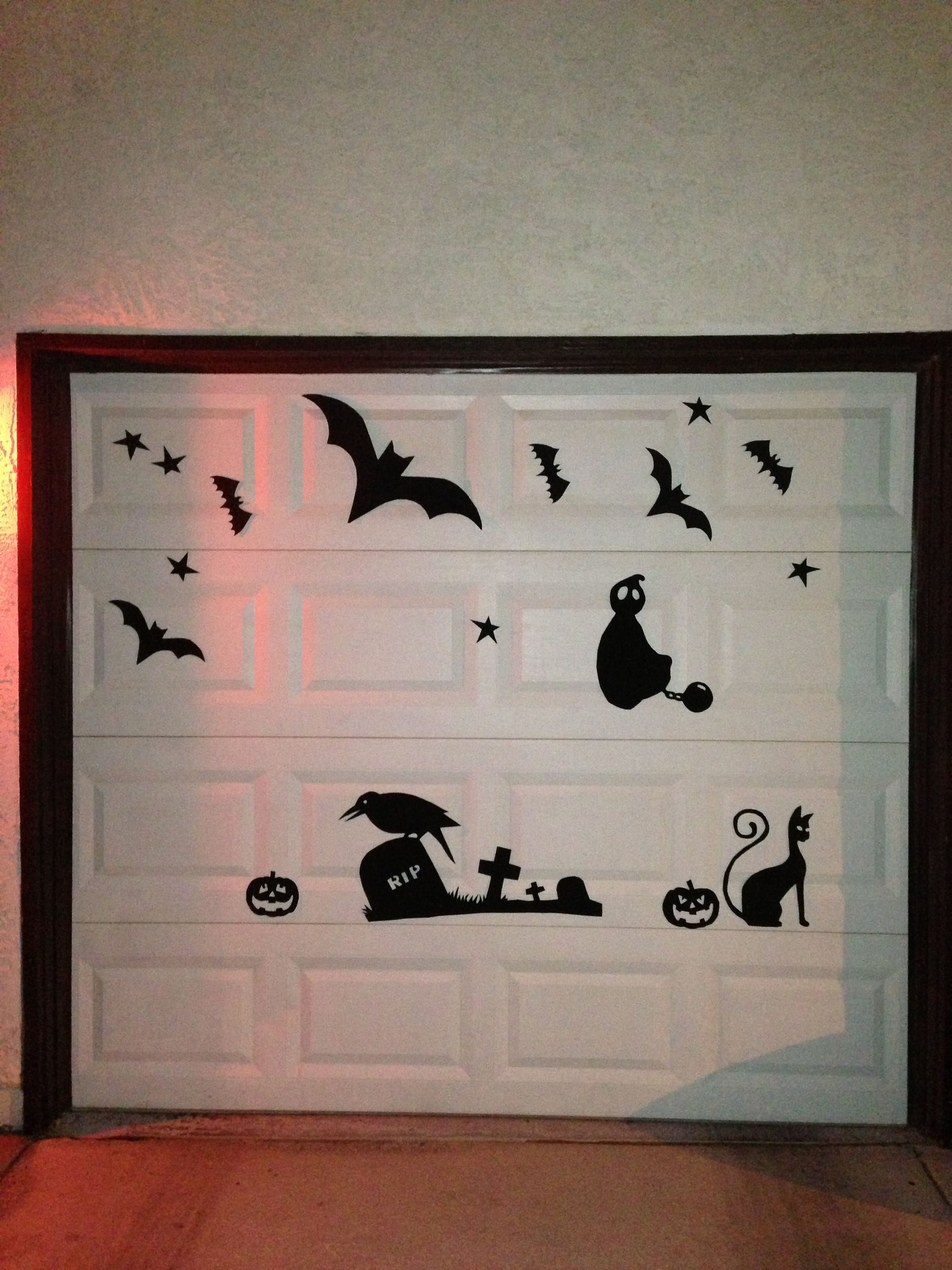 Halloween garage door silhouettes Halloween Decorations - Halloween Garage Door Decorations