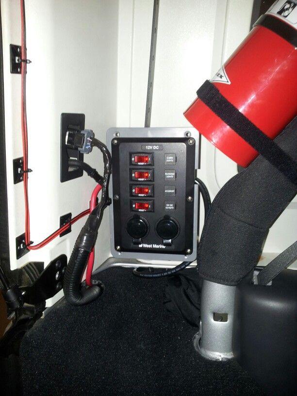 12v Switched Breaker In Rear Cargo Area Of Jk Wrangler Jeep 12v Sockets Jeep Wrangler Jeep Wrangler Unlimited Accessories Jeep Jku