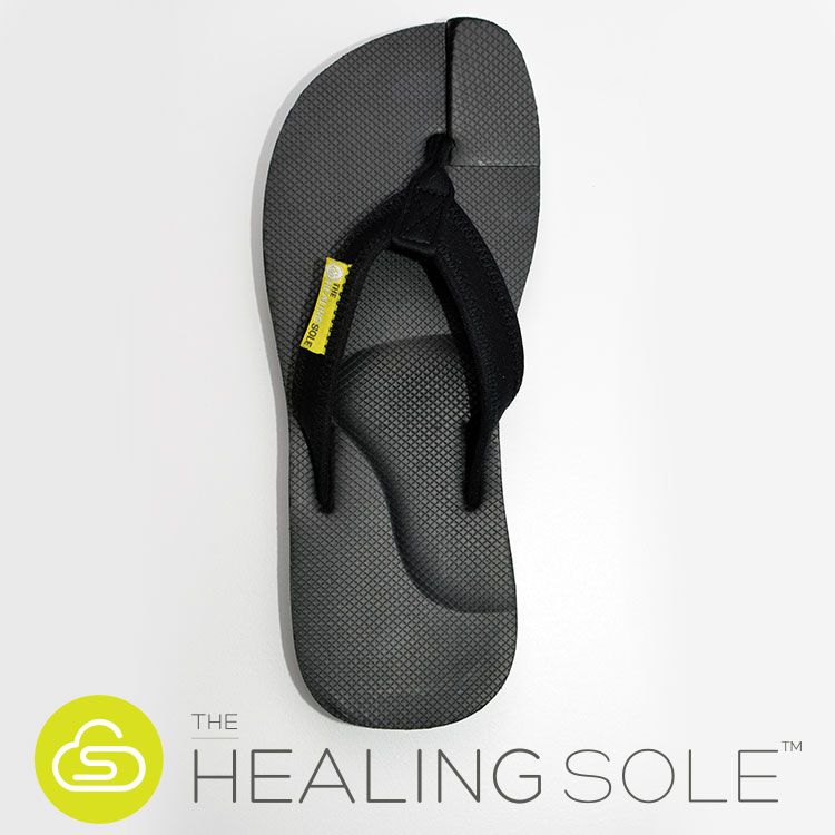 a7afef1a53fa Plantar Fasciitis Flip Flop - The Healing Sole - Overhead View