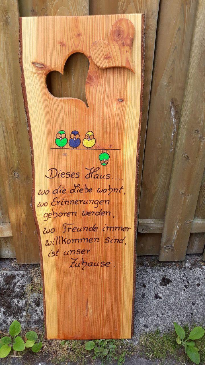 Willkommensschilder Annegret Lindhorsts Webseite Turschild Holz Brandmalerei Holzgeschenke