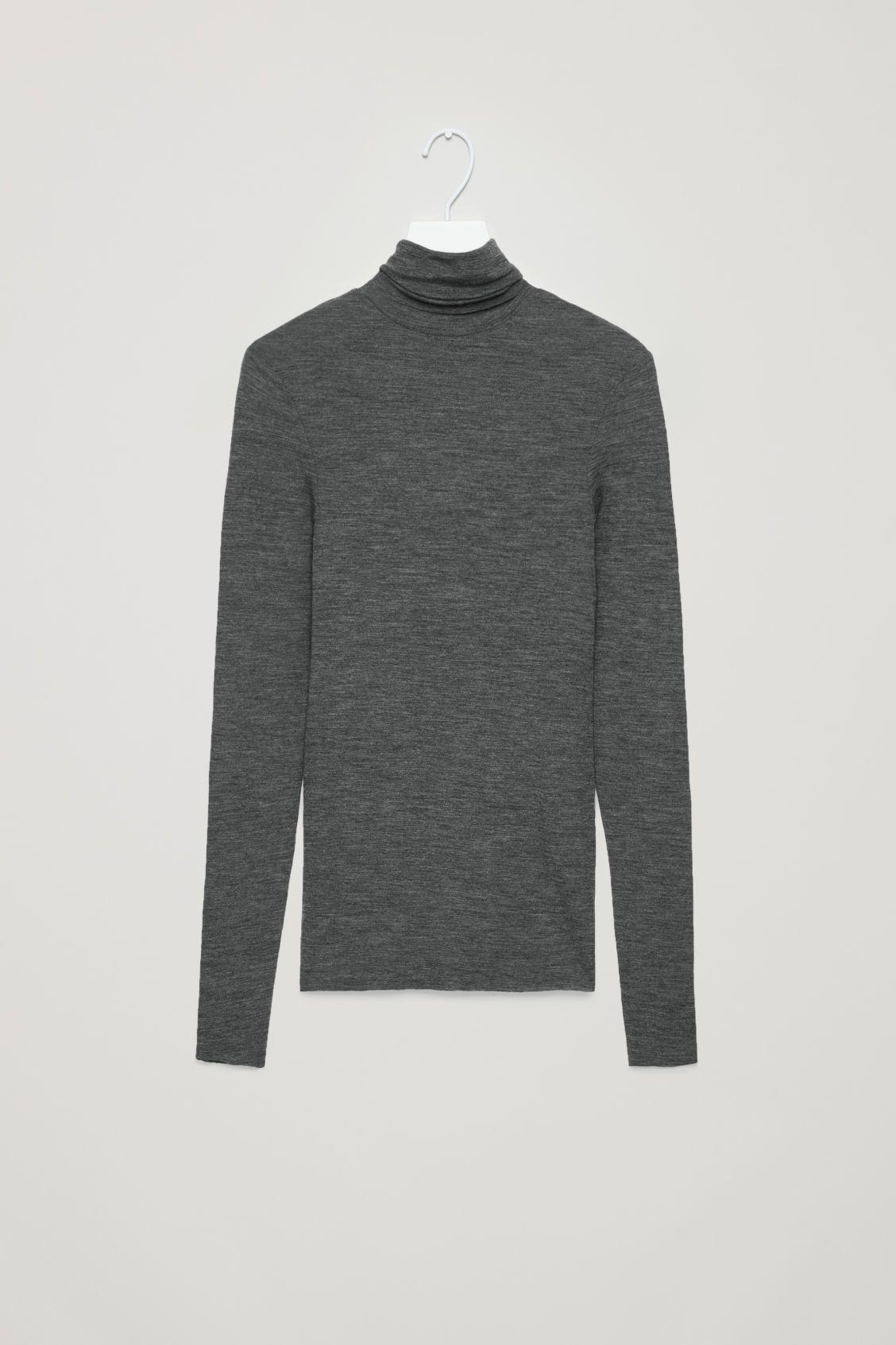 Cos green dress 2018  COS  Fine rollneck wool top  WBekleidung  Pinterest