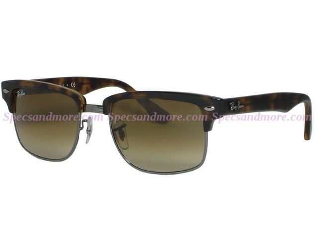b6a05fd393986 Ray Ban RB 4190 Squared Clubmaster 878 Semi Gloss Havana Sunglasses ...