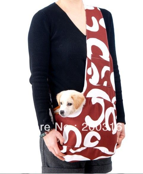 New Coffee Pet Sling Carrier Bag Dog Cat Carrier Dog Carrier Free Shipping Retail In Dog Carriers From Home With Images Dog Sling Dog Clothes Patterns Dog Carrier Bag