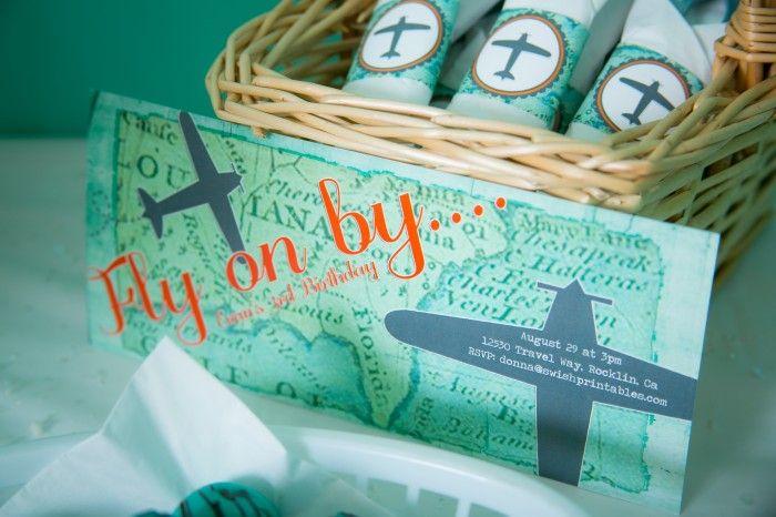 Carton d'invitation anniversaire enfant - Aviation | 15ans | Invitation anniversaire enfant ...