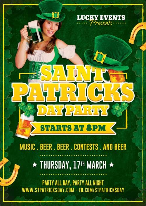 Get St Patricks Day Party Photoshop Flyer Template From Httpwww