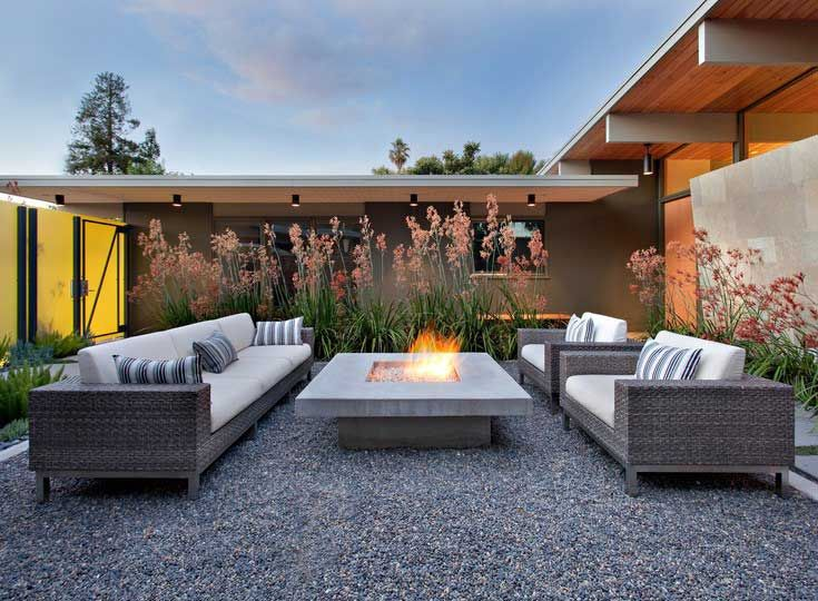 pea gravel square fire pit area google search modern on best large backyard ideas with attractive fire pit on a budget id=32491